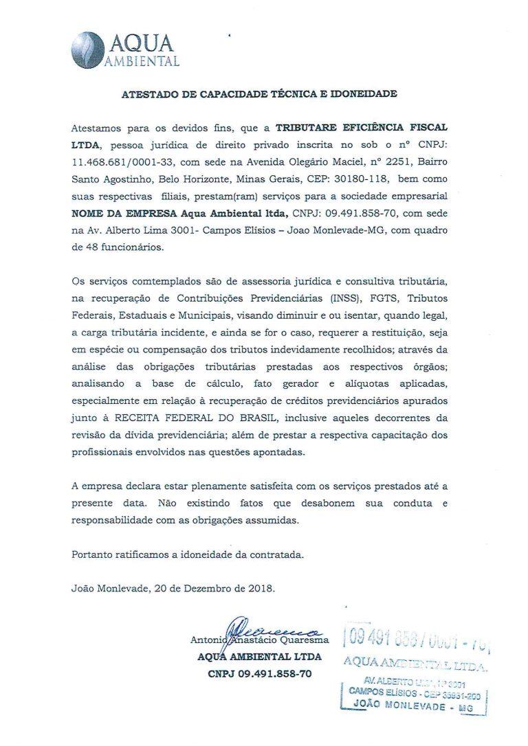 AQUA AMBIENTAL - ATESTADO INSS-1