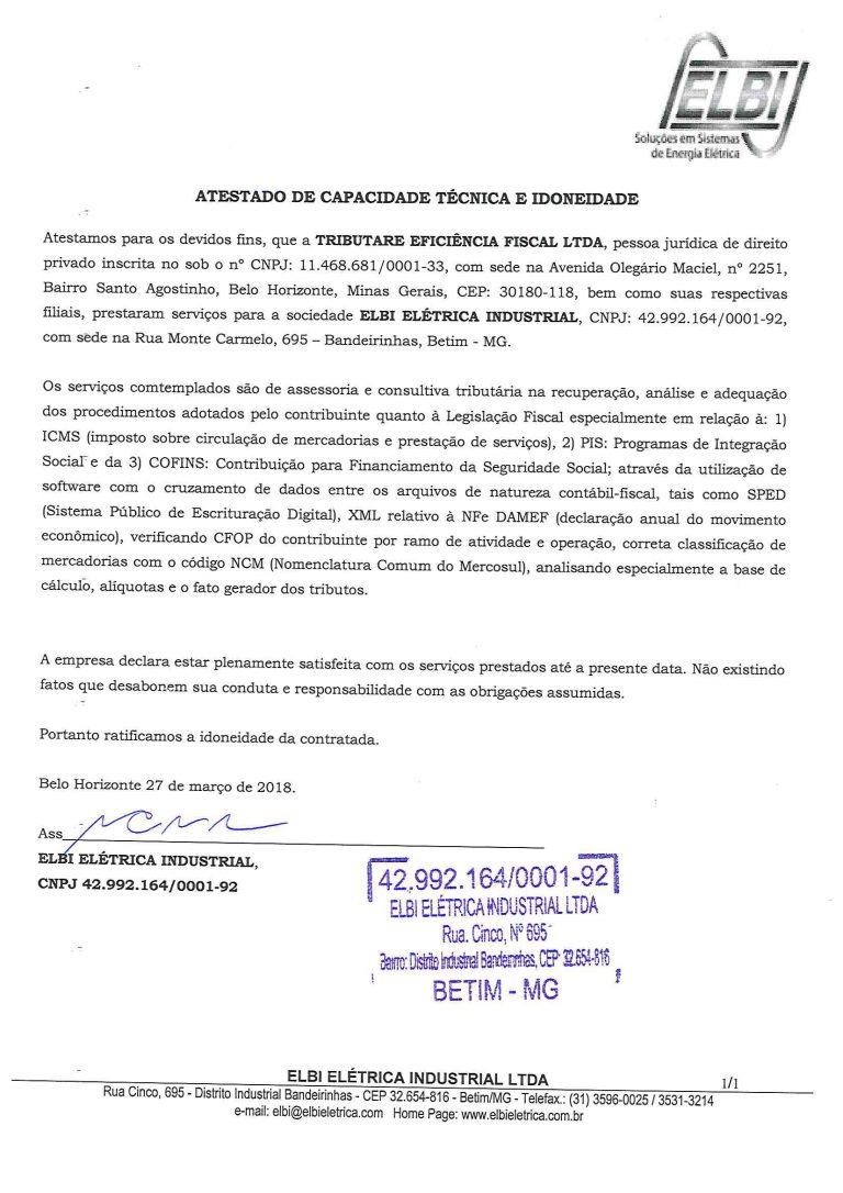 ELBI - ATESTADO ICMS-1