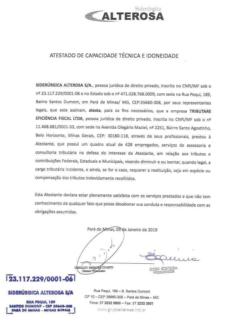 SIDERURGICA ALTEROSA - ATESTADO INSS-1